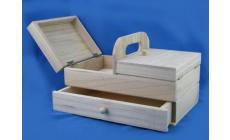 Cestino in legno 2 piani Filati Tre Sfere Art.103209