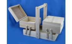 Cestino in legno 3 piani Filati Tre Sfere Art.103227